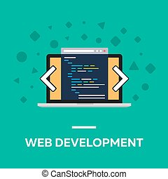 Flat web development notebook