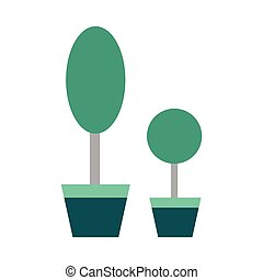 Flat web icon on white background houseplants