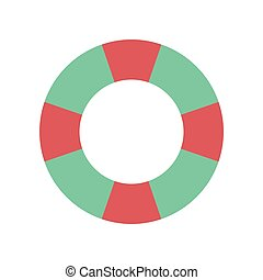 Flat web icon on white background Lifebuoy