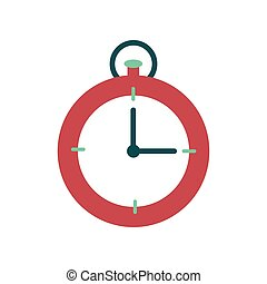 Flat web icon on white background stopwatch