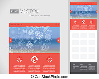 Flat Website Design Template