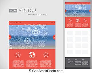 Flat Website Design Template