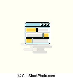 Flat Website Icon. Vector