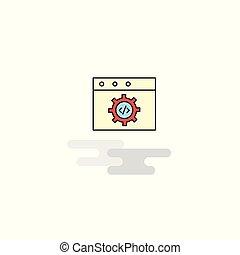 Flat Website programming Icon. Vector