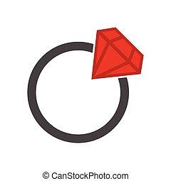 Flat wedding ring