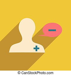 Flat with shadow icon and mobile application doctor