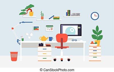 Flat Workspace Concept