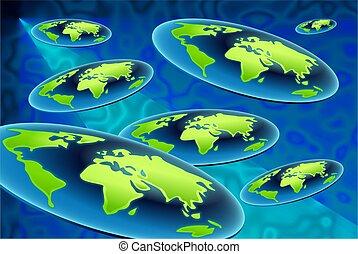 flat world background design