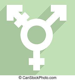 FLAT_transgender_symbol_02 - minimalistic illustration of a...