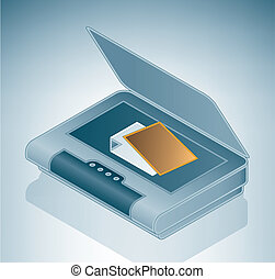 Flatable Photo Scanner is a part of the Isometric 3D Computer Hardware Icons Set