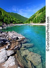 Flathead River Rapids Montana - Bright turquoise waters of ...