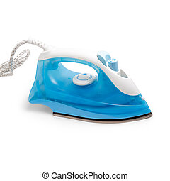 flatiron blue steam iron isolated