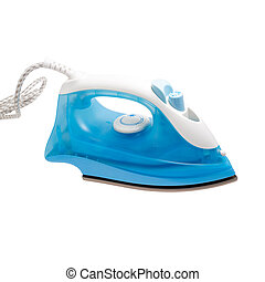 flatiron steam blue iron isolated