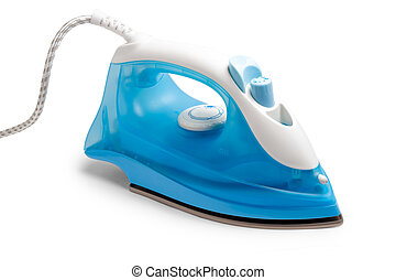 flatiron steam iron isolated on white background