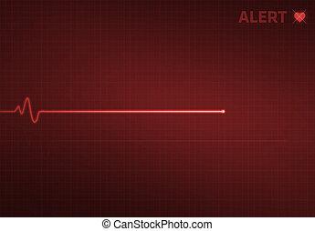 Flatline Heart Monitor - Alert