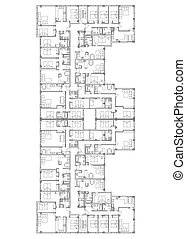 flats - A plan of a building