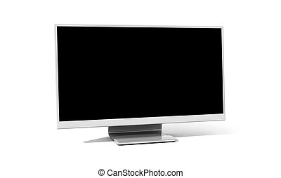 Flatscreen Monitor. 3D rendered illustration. Isolated on...