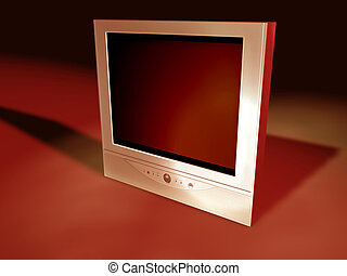 Flatscreen Tv - A flatscreen tv I created in Cinema 4D. ...