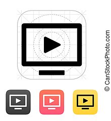 Flatscreen TV icon.  - Flatscreen TV icon