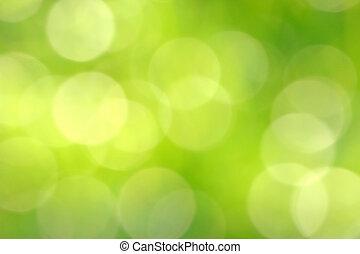 flaumig, und, verwischt, brigth, grüne lichter