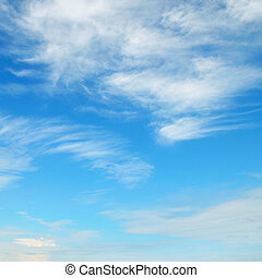flaumig, wolkenhimmel, in, der, blauer himmel