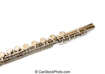 flauta, detalle, válvulas