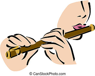 flauta, ilustración