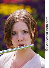 flauto, adolescente