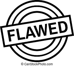 FLAWED stamp on white isolated