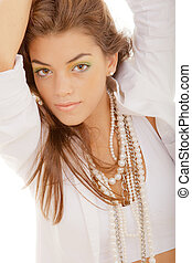 flawless complexion - beautiful young woman with flawless...