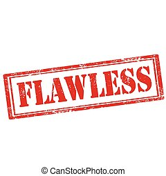 Flawless-stamp - Grunge rubber stamp with text Flawless, ...