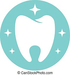 Flawless tooth logo icon, flat style. - Flawless tooth logo ...