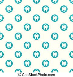 Flawless tooth pattern seamless vector repeat for any web ...