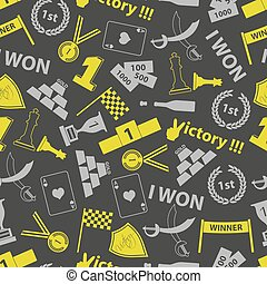 flawless victory symbols seamless color pattern eps10