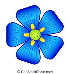 Flax flower illustration - Illustration of the flax flower ...