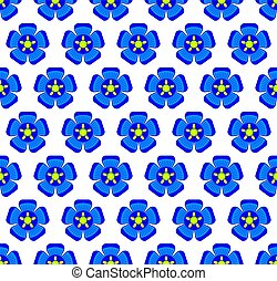 Flax flower pattern - Seamless pattern of the flax flower ...