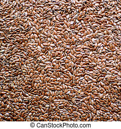 Flax seed background