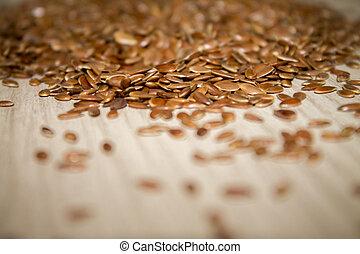 flax seed linseed closeup