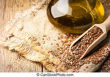 flax seeds and linseed oil