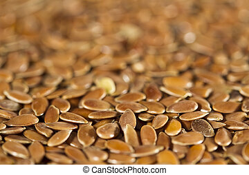 Flax Seeds - Dried brown flax seeds. Can be used as ...