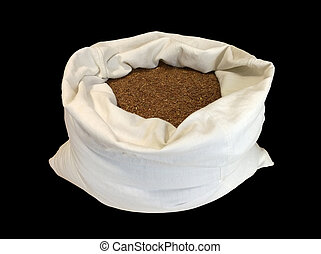 Flax seeds in a bag
