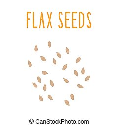Flax seeds. Vector EPS 10 hand drawn illsutration.