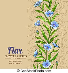 flax vector background - flax vector pattern on color ...