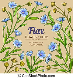 flax vector frame on color background