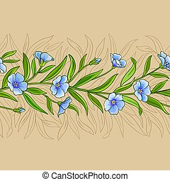 flax vector pattern on color background