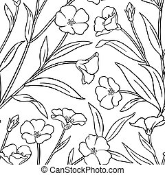 flax vector pattern on white background