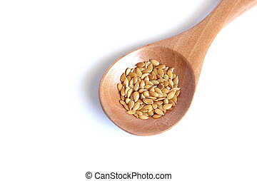 Flaxseed On White Background