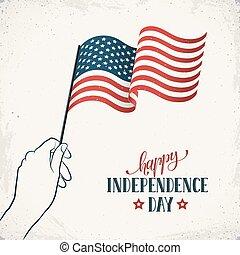 flayer, día, independencia