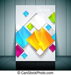 flayer, presentation., illustration branche, template., vektor, din