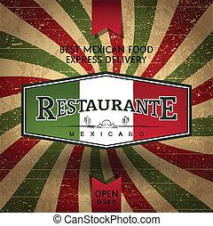 Flayer Template for Mexican Restaurant and food Delivery
